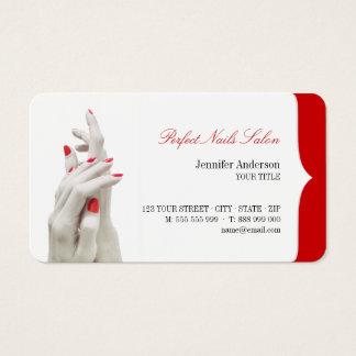 Nagel-Salon-Schönheits-Mitte-Visitenkarte Visitenkarte