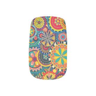 Nageln Sie Kunst schön, bunt, ursprünglich Minx Nagelkunst
