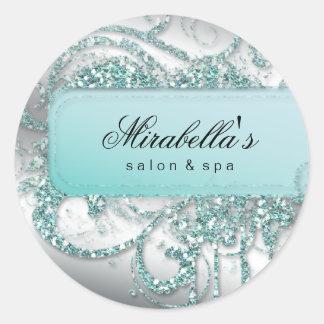 Nageln Sie Salon-blauen Glitter elegantes Bling Runder Aufkleber