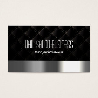 Nageln Sie Salon-modernes Silber u. schwarzes Visitenkarte