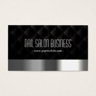Nageln Sie Salon-modernes Silber u. schwarzes Visitenkarten