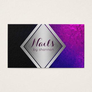 Nageln Sie Schönheitssalon-Visitenkarte des Visitenkarte