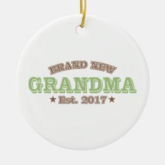 Nagelneue Großmutter Est. 2017 (Grün) Keramik Ornament