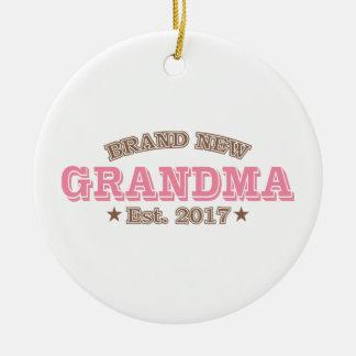 Nagelneue Großmutter Est. 2017 (Rosa) Keramik Ornament