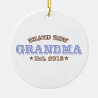 Nagelneue Großmutter Est. 2018 (lila) Keramik Ornament