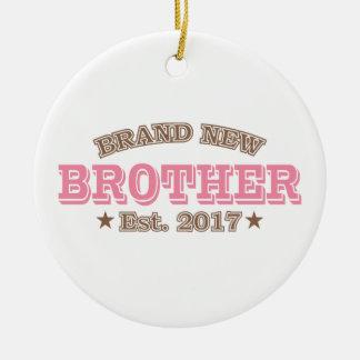 Nagelneuer Bruder Est. 2017 (Rosa) Keramik Ornament