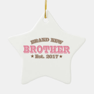 Nagelneuer Bruder Est. 2017 (Rosa) Keramik Stern-Ornament