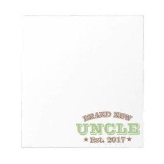 Nagelneuer Onkel Est. 2017 (Grün) Notizblock