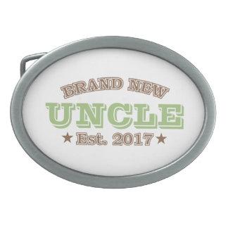 Nagelneuer Onkel Est. 2017 (Grün) Ovale Gürtelschnalle