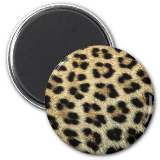 Nah oben von den Leopardstellen, Afrika Runder Magnet 5,1 Cm