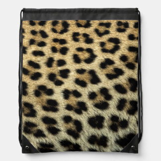 Nah oben von den Leopardstellen, Afrika Turnbeutel
