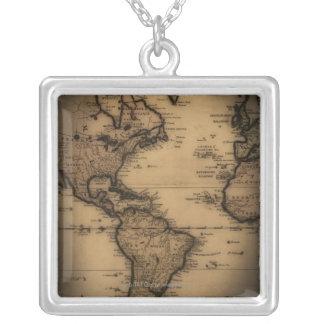 Nah oben von der antiken Weltkarte Halskette