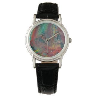 Nah oben von einem Weihnachtsjaspis Armbanduhr