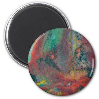 Nah oben von einem Weihnachtsjaspis Runder Magnet 5,1 Cm