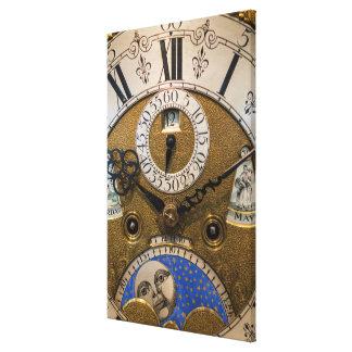 Nah oben von einer alten Uhr, Deutschland Leinwanddruck