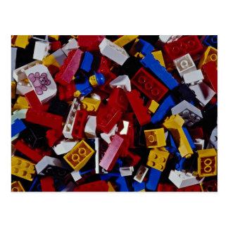 Nahaufnahme der Gebäudeblöcke der Kinder Postkarten