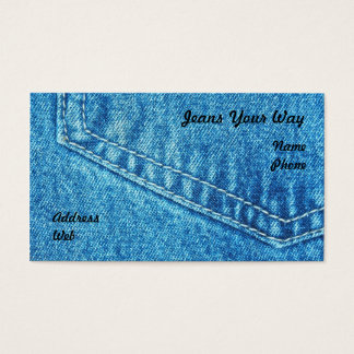 Nahaufnahme der Jeans-Hosen-Tasche Visitenkarte