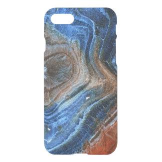 Nahaufnahme des Blaus u. Brown-Achat mit Nacre iPhone 8/7 Hülle