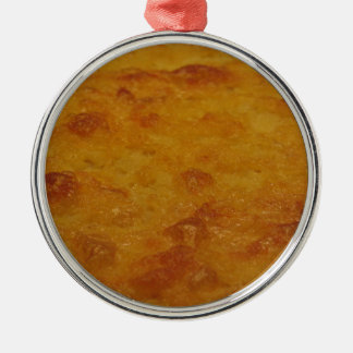 Nahaufnahme des Kichererbsenmehlpfannkuchens Silbernes Ornament