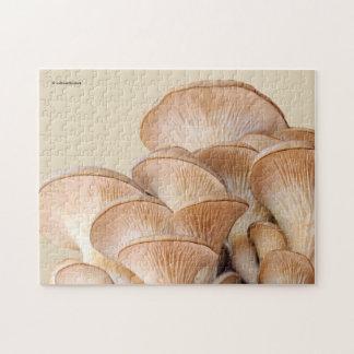 Nahaufnahme einer Austern-Pilz-Kolonie Puzzle