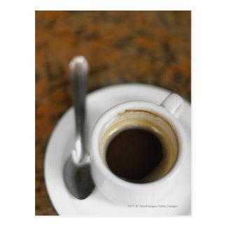 Nahaufnahme eines Tasse Kaffees 2 Postkarte