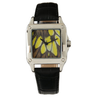Nahaufnahme-Flügel-Muster des tropischen Armbanduhr