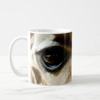 Nahaufnahme-Giraffen-Gesichts-wilde Kaffeetasse