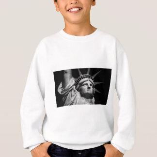 Nahaufnahme-Schwarz-weißes Freiheitsstatue New Sweatshirt