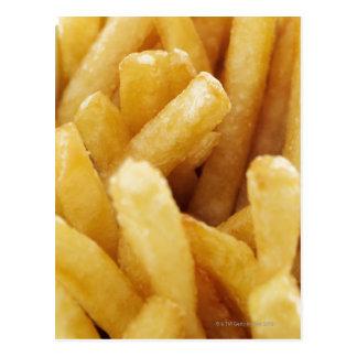 Nahaufnahme von Pommes-Frites Postkarte