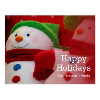 Nahaufnahme von zwei Weihnachtsdekorationen Postkarte