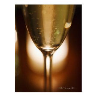 Nahaufnahmeansicht des Champagnerglases Postkarte