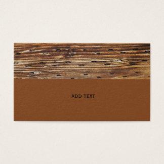 Nahaufnahmeansicht des Holzes mit Nägeln Visitenkarte