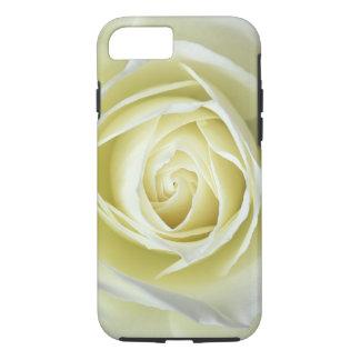 Nahe hohe Details der weißen Rose iPhone 8/7 Hülle