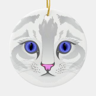 Nahe hohe Illustration des niedlichen weißen Rundes Keramik Ornament