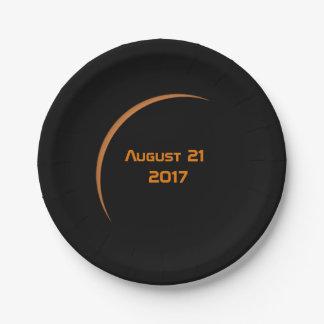 Nahe Maximum-am 21. August 2017 teilweiser Pappteller