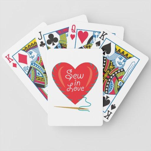 Nähen Sie in der Liebe Spielkarten