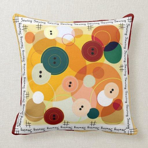 n hen sie die knopf rot gelb kissen zazzle. Black Bedroom Furniture Sets. Home Design Ideas