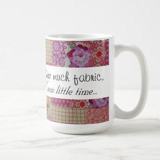 Nähen Sie viel Gewebe, nähen Sie wenig Zeit… Kaffeetasse