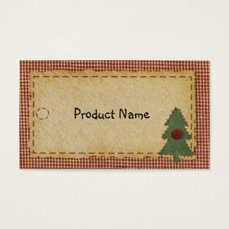 Nähen Sie Weihnachtsbaum-Fall-Umbau Visitenkarte