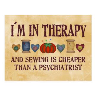 Nähende Therapie Postkarte