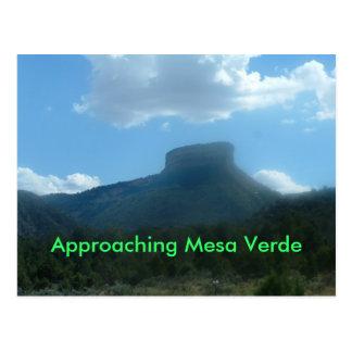 Nähernde Postkarte MESAs Verde