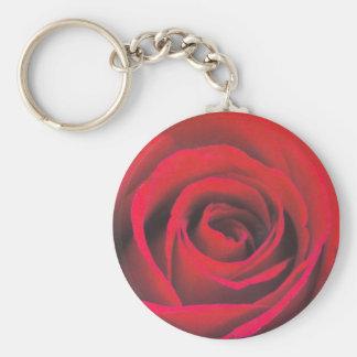 Nahes hohes der Roten Rose Schlüsselanhänger