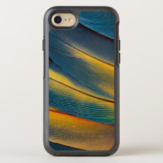 Nahes hohes der Scarletmacaw-Feder OtterBox Symmetry iPhone 8/7 Hülle