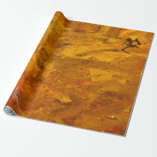 Nahes hohes des bernsteinfarbigen Steins Geschenkpapier