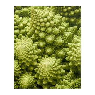 Nahes hohes des Romanesco Brokkoli-Gemüses Acryldruck