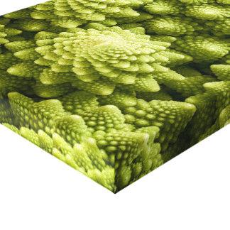 Nahes hohes des Romanesco Brokkoli-Gemüses Leinwanddruck