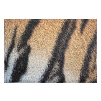 Nahes hohes Foto der Tiger-Streifen Tischset
