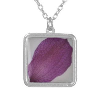 Nahes hohes lila Orchideen-Blumenblatt Versilberte Kette