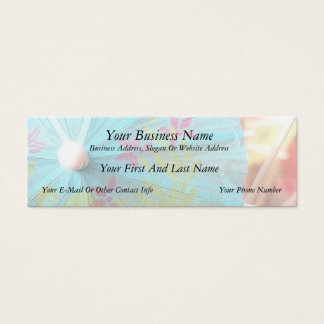 Nahes hohes - Papiersonnenschirm Mini Visitenkarte