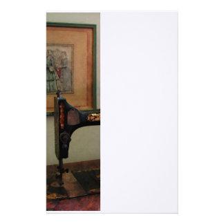Nähmaschine und Lithographie Briefpapier